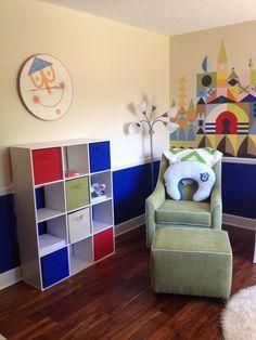 its a small world disney baby nursery wall art clock chair