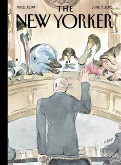 "The New Yorker - Monday, June 7, 2010 - Issue # 4360 - Vol. 86 - N° 16 - Cover ""Five Weeks Later"" by Barry Blitt"