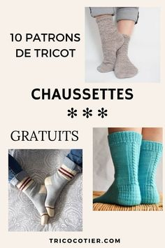 ▷ 10 patrons gratuits pour tricoter des chaussettes {Tricot} Leg Warmers, Handicraft, Socks, Blog, Crafts, Coin, Knitting Projects, Fashion, Amigurumi