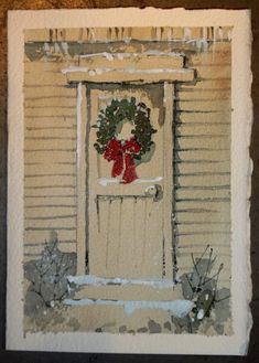 Painted christmas cards on pinterest watercolor for Painted christmas cards