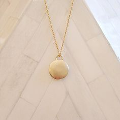 Simple yet beautiful Gold elegant pendant necklace with a brushed finish. 18k Gold Chain, Gold Chains, Gold Necklace, Pendant Necklace, Monsoon, Jewellery, Elegant, Beautiful, Collection