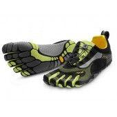 BIKILA LS Vibram FiveFingers Men's Shoes-Black/Green