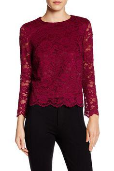 Long Sleeve Lace Blouse by Nicole Miller on @HauteLook