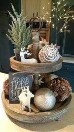 Below are the Rustic Christmas Table Settings Ideas. This article about Rustic Christmas Table Settings Ideas was posted under the Furniture category by our team at February 2019 at am. Hope you enjoy it and don't forget to . Decoration Christmas, Farmhouse Christmas Decor, Noel Christmas, Christmas Centerpieces, Country Christmas, Xmas Decorations, Winter Christmas, Christmas Crafts, Centerpiece Ideas