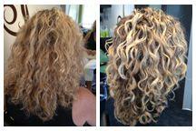 Blonde Curls Curls on Top Hair Studio Laguna Beach, CA