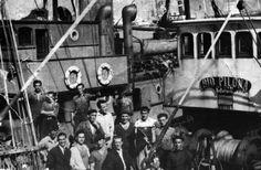 Bacallaeiros asturianos no porto de Bouzas