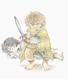 Frodo and Sam #lordoftherings #fanart
