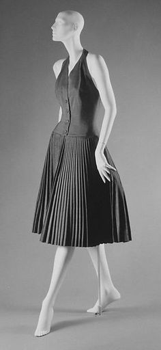 Ensemble Design House: House of Dior (French, founded 1947) Designer: Christian Dior (French, Granville 1905–1957 Montecatini) Date: spring/summer 1955 Culture: French Medium: silk