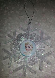 FROZEN CHRISTMAS ORNAMENT 1pc. large snowflake by everydayabow, $6.00