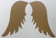 ♥ .♥ . . CHIPBOARD DIE CUTS . . ♥ .♥  ANGEL ♥ WINGS Size: 4 3/4 Tall 1 7/8 Wide   . . . ♥ O R D E R I N G ♥ . . . S H O P ♥ S A V I N G S - Price Discounts Built into Menu - Choose Amount from (pull down menu) Number of Pieces - Number of Pieces can be further increased by adjusting the Quantity ┊  ┊  ☆ ┊  ★ ☆   C H I P B O A R D - ♥ - 101 Chipboard is a Basic Craft Element Unfinished & Ready to Decorate Perfect for Creative Projects, Memory Books, & Greeting Cards . 30 Bro...