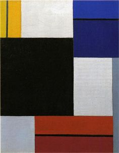 Composition XXI  Artist: Theo van Doesburg (1883-1931) Completion Date: 1923 Place of Creation: Germany Style: Neoplasticism Genre: abstract Technique: oil Material: canvas Dimensions: 41 x 33.5 cm Gallery: Private Collection