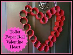 So easy and fun...toilet paper roll valentine heart