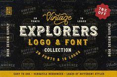 Explorers Logo & Font Collection - Display