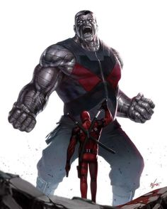 """Deadpool and Colossus """"Stewart or McAvoy makes no difference to me... I'm not going to the mansion to talk to your Professor! """"..."""