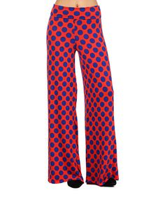 Look at this #zulilyfind! Red & Royal Blue Polka Dot Palazzo Pants by Pretty Young Thing #zulilyfinds
