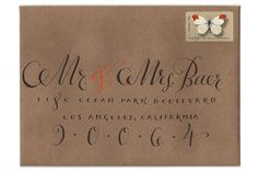 Modern Wedding Calligraphy: Plurabelle // Via Modernly Wed (1)