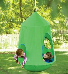 HugglePod™ HangOut Indoor/Outdoor Hanging Chair - comes with built in lights, so cool. #HangingChair