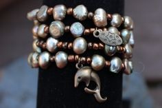 Pearly Dreams Genuine Pearl Four Stack Stetch by VerdeBirdi