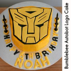 Bumblebee Autobot Logo Cake by Kat's Cakes, via Flickr
