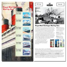 Large image of the Royal Mail Heritage: Mail by Sea Post & Go Stamp Set