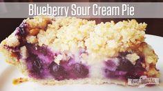 Blueberry Sour Cream Pie Recipe: so good, I snuck a little before breakfast!