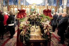 Christmas Eve Service at Greek Orthodox Church in Athens