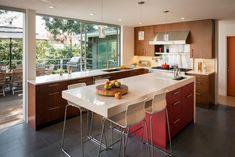 modern kitchen in piedmont - contemporary - Kitchen - San Francisco - building Lab, inc. Kitchen Island Lighting Modern, Modern Kitchen Design, Interior Design Kitchen, Modern Design, Design Bathroom, Interior Door, Home Decor Kitchen, New Kitchen, Home Kitchens
