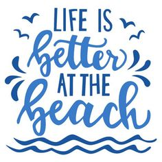 Life is better at the beach Silhouette Design Store: Am Strand ist das Leben besser Silhouette Design, Silhouette Cameo Projects, Beach Silhouette, Beach Shirts, Vacation Shirts, Beach Quotes, Beach Sayings, Seashore Quotes, Ocean Quotes