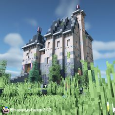 A beautiful little chateau inhabited by a noble French gentleman on the wide French countryside!  Minecraft Mansion, Minecraft Cottage, Cute Minecraft Houses, Minecraft Plans, Minecraft House Designs, Amazing Minecraft, Minecraft Tutorial, Minecraft Blueprints, Minecraft Art
