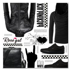 """""""Rosegal21"""" by angel-a-m on Polyvore featuring Vans, men's fashion, menswear, MensFashion, polyvoreeditorial, polyvorefashion and rosegal"""