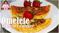 Omelete de queijo e espinafre | Nancy Neide