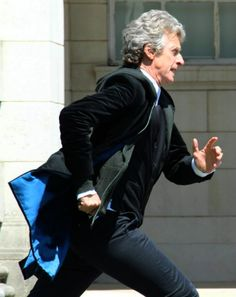 He also described me as running like a penguin with his ass on fire. — Peter Capaldi talking about Steven Moffat's apt character description (Empire Magazine, September 2017 edition) Doctor Who 12, Twelfth Doctor, Doctor Who Quotes, Eleventh Doctor, David Tennant Doctor Who, Steven Moffat, Clara Oswald, Rory Williams, Amy Pond