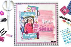 Bella Blvd Addison Collection   I Love 2 C U Smile Layout by Amy Heller