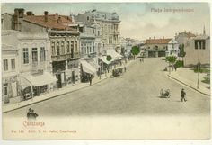 Constanta - Piata Independentei (Ovidiu de astazi) - antebelica Old Town, Old Photos, Memories, Sea, Painting, Vintage, Posters, Old Pictures, Old City