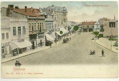 Constanta - Piata Independentei (Ovidiu de astazi) - antebelica Casino Sites, Best Casino, Casino Bonus, Old Town, Old Photos, Memories, Sea, Vintage, Posters