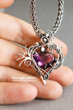 """Купить """"Phoenix"""" Серебряная подвеска - украшение, подарок девушке, подарок женщине, серебро, wire, wrap"""