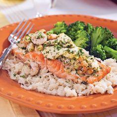 Pavé de saumon aux crevettes et fromage en grains - Le Blogue | MAG2000
