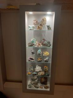 Bookcase, Shelves, Home Decor, Minerals, Shelving, Decoration Home, Room Decor, Book Shelves, Shelving Units