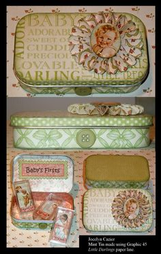 Graphic 45 Little Darlings paper line - tins @ It's All About Me & Mine