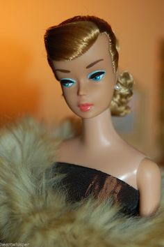Vintage Barbie Ash Blond Swirl Ponytail