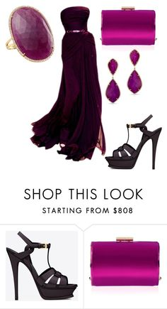 """""""Untitled #24052"""" by edasn12 ❤ liked on Polyvore featuring Yves Saint Laurent, Jimmy Choo, Anne Sisteron and Betteridge"""