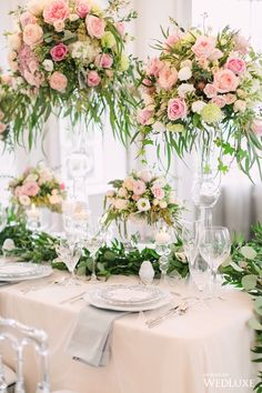 WedLuxe – A Lush, Soft-Hued Styled Shoot Inspired by an Airy, Enchanted…