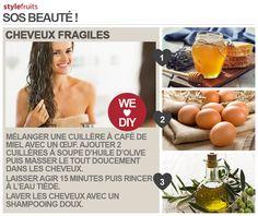 DIY de masque pour avoir les cheveux soyeux ! ♥ Inspiration stylefruitsFR ♥ Retrouvez le ici : stylefru.it/s430589