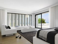Contemporary Home Design, Charming Bedroom In Pure White House: Pure White House: Display Holiday Everyday