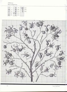 Gallery.ru / Фото #6 - Книга Зима - Mosca Cross Stitch Fruit, Cross Stitch Flowers, Cross Stitch Patterns, Cross Stitches, Stitch 2, Christmas Cross, Pattern Books, Needlepoint, Needlework