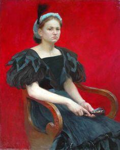 The Red Mask | Elena Kukanova 1979 | Russian painter