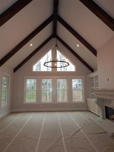 New Living Room Windows Vaulted 57 Ideas Vaulted Living Rooms, Living Room Windows, New Living Room, Small Living Rooms, Family Room Addition, Living Room Furniture Arrangement, Family Room Design, Family Rooms, Room Additions