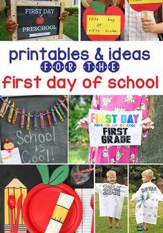 Fun Printables and Ideas for The First Day Of School! Learning Activities, Activities For Kids, Online Shopping For Boys, Back To School Breakfast, Back To School Essentials, School Grades, Schools First, School Photos, Preschool Kindergarten