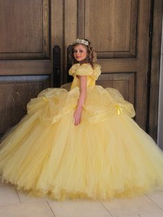 Disney Belle Costume Dress Beauty And The Beast Princess Ball