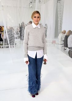 When shaggy Michael Kors pants came down runway Fall | This Is Olivia Palermo's Boldest Collection of Fashion Week Outfits to Date | POPSUGAR Fashion Photo 34